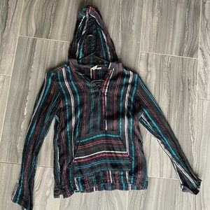 Lace up Beach Style Hoodie